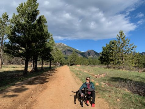 "Ms. Seguin: ""Hiking Shanahan Ridge in Boulder, Colorado with my best pup, Ender."""